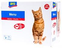 ARO Kapsička pro kočky hovězí 12x100g