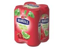 Birell Ochucený limetka/malina nealkoholické pivo 4x500ml