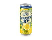 Zlatopramen Citron nealkoholické pivo 24x500ml plech