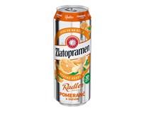 Zlatopramen Radler Pomeranč pivo 24x500ml plech