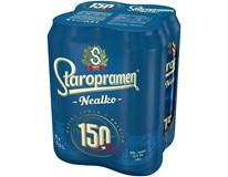 Staropramen nealkoholické pivo 4x500ml plech