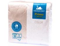 Harmony Ubrousky 1-vrstvé cappuccino 7x50ks