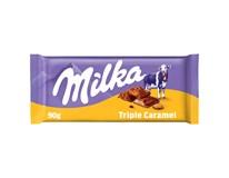 Milka Čokoláda Triple caramel 1x90g