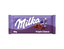 Milka Čokoláda Triple Choco 1x90g