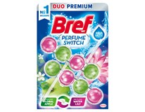 Bref WC Perfume Switch blok/osvěžovač floral apple/water lily 2x50g
