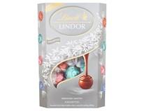 Lindt Lindor Silver Směs mléčné a bílé čokolády s jahodami a kokosem 1x337g
