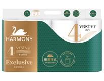 Harmony Exclusive Toaletní papír 4-vrstvý herbal parfémovaný 1x8ks