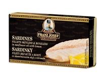 Franz Josef Kaiser Sardinky filety ve slunečnicovém oleji + citrón 1x90g
