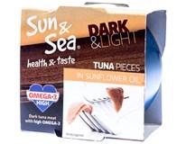 Sun&Sea Tuňák světlý/tmavý ve slunečnicovém oleji 1x185g