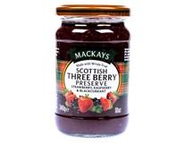 Mackays Džem three berry (malina,jahoda,černý rybíz) 1x340g