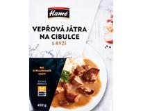 Hamé Vepřová játra na cibulce s rýží chlaz. 1x450g