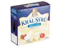 Král sýrů Hermelín přírodní chlaz. 10x120g