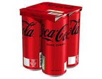 Coca-Cola Zero 4x0,33L plech