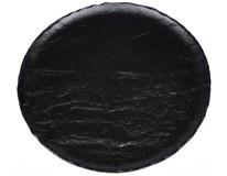 Talíř mělký Vulcania 33cm černý 1ks