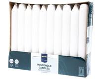 Svíčka Metro Professional 2x18cm bílá 30ks