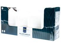 Svíčka Metro Professional 8x15cm bílá 4ks