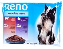 Reno Kapsičky pro psy hovězí/krůtí omáčka 4x100g