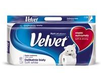 Velvet Toaletní papír 3-vrstvý bílý 1x8ks