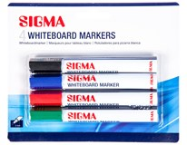 Popisovač na tabuli Sigma mix barev 1x4ks