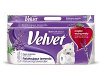 Velvet Toaletní papír levandule 3-vrstvý 1x8ks