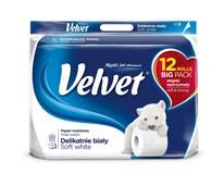 Velvet Toaletní papír bílý 3-vrstvý 1x12ks