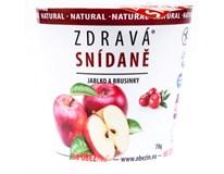 Zdravá snídaně cereálie jablko/brusinka 1x78g
