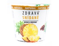 Zdravá snídaně cereálie ananas/rozinka 1x78g