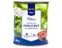 Metro Chef Fazole Cannellini bílé ve slaném nálevu 1x800g