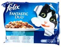 Felix Fantastic Duo Výběr rybí pro kočky 4x100g