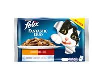 Felix Fantastic Duo Výběr pro kočky 4x100g