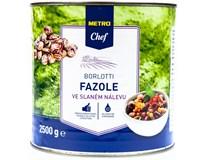 Metro Chef Fazole Borlotti ve slaném nálevu 1x2500g