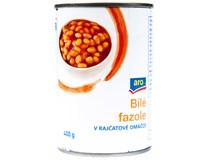 ARO Fazole bílé v rajčatové omáčce 6x400g