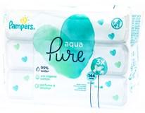 Pampers Wipes Aqua Pure Ubrousky dětské čisticí 3x48ks