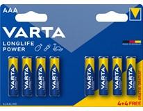 Baterie Varta Longlife Power mikrotužkové AAA 8ks