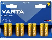 Baterie Varta Longlife mikrotužkové AAA 8ks