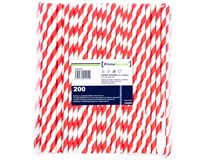 Brčko papírové Kraft 6/200mm červené 1x200ks