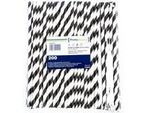 Brčko papírové Kraft 6/200mm černé 1x200ks