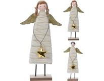 Anděl s vlnou 29cm zlatá 1ks