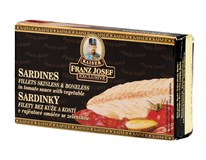 Franz Josef Kaiser Sardinky filety v rajčatové omáčce se zeleninou 1x90g