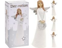 Anděl vánoční dekorace 15cm 1ks