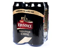 Krušovice černé pivo 24x500ml plech