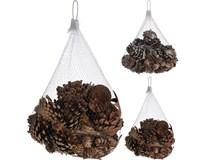 Dekorace - borové šišky a kůra 2 druhy 300g 1ks