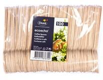 Lžička Duni 11cm dřevěná 1x100ks