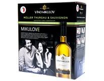 Víno Mikulov Müller Thurgau & Sauvignon jakostní odrůdové 4x3L BiB