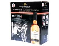 Víno Mikulov Frankovka & Cabernet Moravia rosé jakostní odrůdové 1x3L BiB