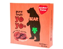 Bear Yoyo's Pure Fruit Strawberry želé 5x20g