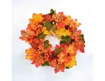 Věnec podzimní s javorovými listy 1ks