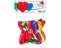 Balónek nafukovací 25cm tvar srdce 1x10ks