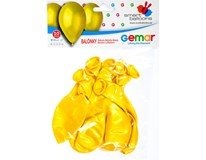 Balónek nafukovací metalická žlutá 30cm 1x10ks