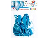Balónek nafukovací metalická sv. modrá 30cm 1x10ks